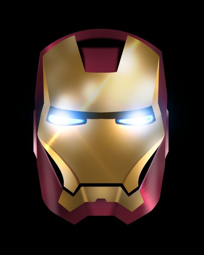 17 best images about icon project 9 art on pinterest for Iron man face mask template