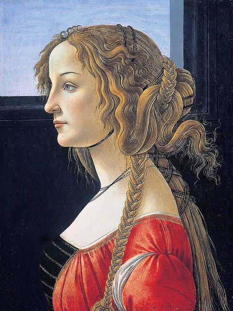 Sandro Botticelli - Portrait of a Young Woman after 1480 Tempera on panel 47.5 x 35 cm Gemäldegalerie, Berlin