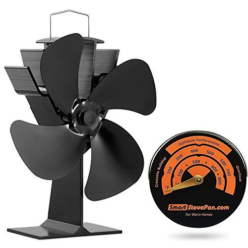No Electricity Required Heat Powered Stove Fan Eco Fan for Wood Stoves Gas Stoves Pellet Stoves.