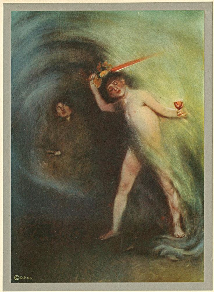 """""""Lured with hope of some Diviner Drink"""" by Adelaide Hanscom (1875-1931)"""