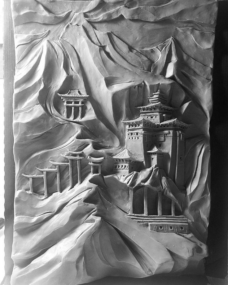 Скульптура❤ Фантазия на тему культуры и архитектуры Тибета. Вдохновляли…