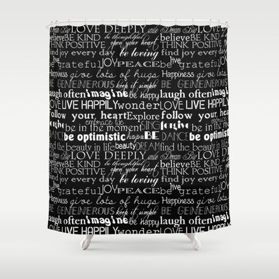 Best Shower Curtains Images On Pinterest Shower Curtains - Shower curtain with words