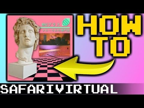 How to make Vaporwave Aesthetic Art (FREE) | SafariVirtual - YouTube