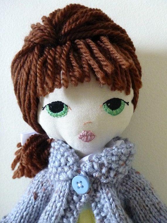 Handmade plush doll. Pattern by Gingermelon