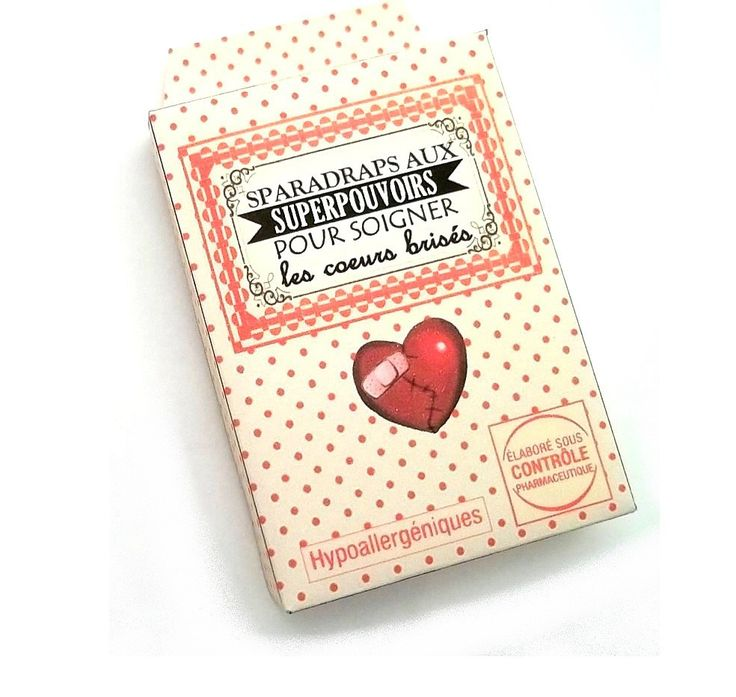 Sparadraps magiques pour soigner les coeurs brisés idée cadeau original : Autres papeterie par mamzlfifine
