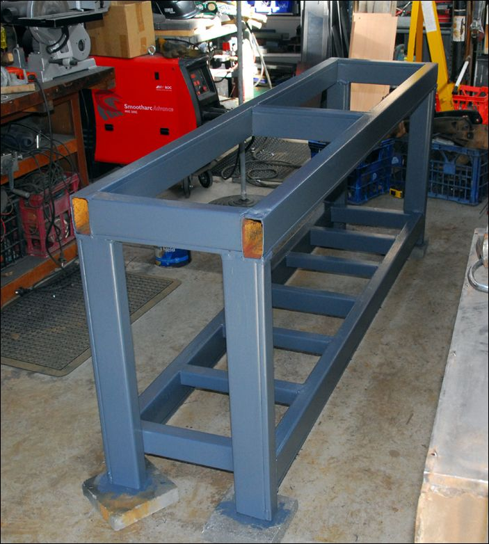 Steel Workbench Made From Pallet Racks Garage In 2019