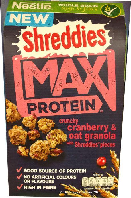 Nestle Shreddies Max Protein Crunchy Cranberry & Oat Granola