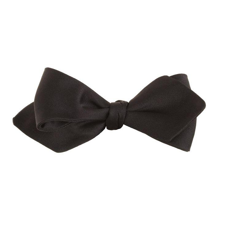 Italian satin point bow tie in black : bow ties | J.Crew