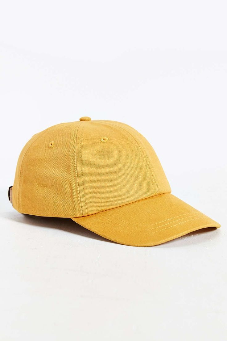 """Dad"" Hats Are The Kind-Of Weird, Kind-Of Cool Trend Infiltrating Our Closets #refinery29  http://www.refinery29.com/2016/02/103357/dad-hats-baseball-cap-trend#slide-1  Not-so-mellow yellow.Rosin Brushed-twill Baseball Hat, $24, available at Urban Outfitters...."