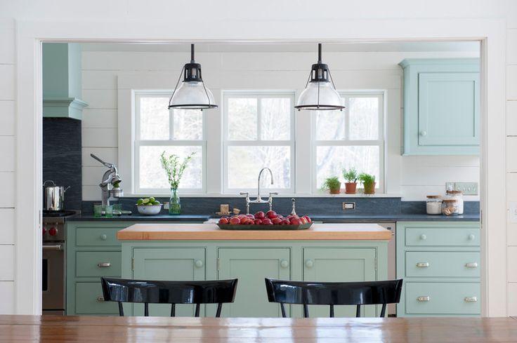 Maple kitchen island countertop Farmhouse Kitchen by Brooks Custom