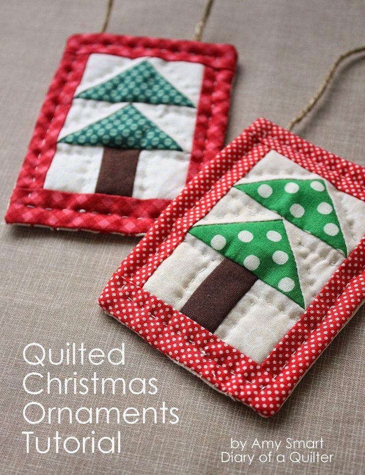 Mini albero di Natale Quilt Ornamento Tutoial - Diario di un Quilter - un blog trapunta