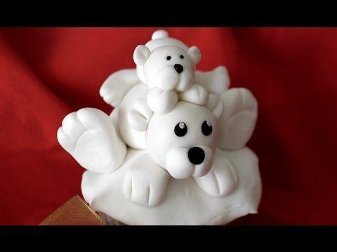 Cómo hacer figuras para tartas: oso polar - YouTube