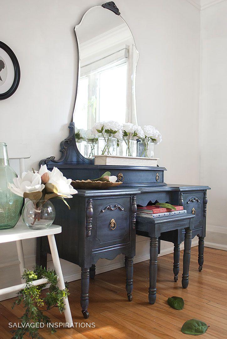 painted vintage vanity - 724×1082