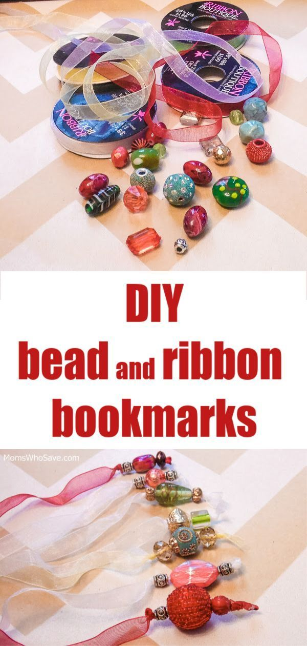 Are you looking for an easy holiday craft or gift? I have just the answer — ribbon and bead bookmarks.