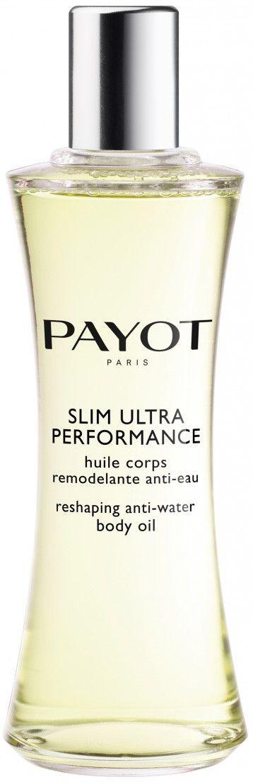 Payot Slim Ultra Performance is een droge olie in een spray flacon met een meervoudige werking. Het vermindert het vasthouden van vocht en werkt drainerend/slimming. Tevens wordt de huid gevoedt en gehydrateerd. Deze droge olie transformeert zich in een lotion/melk zodra deze in contact komt met water, heeft een aangename geur en laat een prettige en comfortabele sensatie achter op de huid.