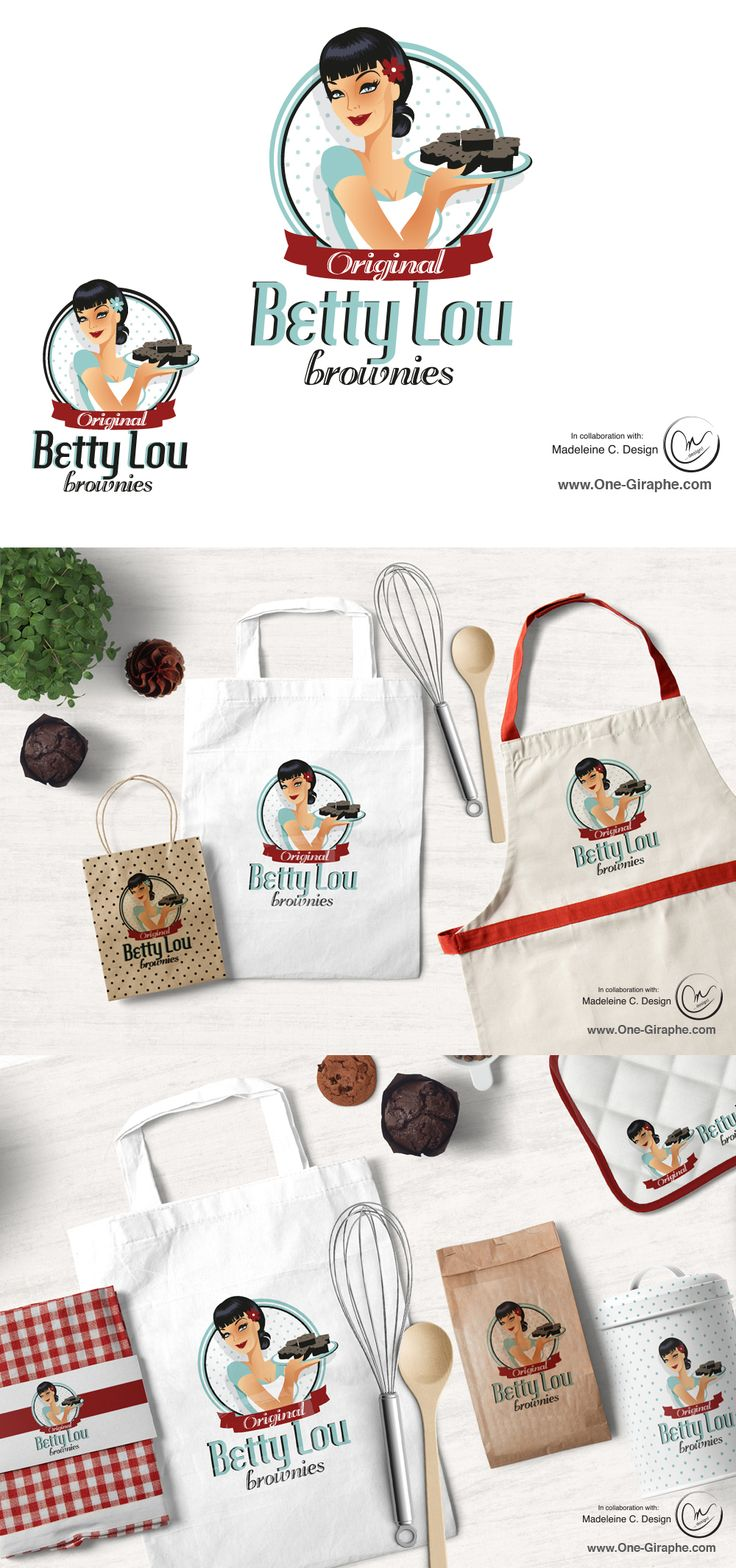 Betty Lou - Brand Identity for sale! Project made in collaboration with Madeleine C. Design http://www.one-giraphe.com/prev.php?c=198 #bakery #logo #cupcake #cake #logodesign #brandidentity #etsy #etsyseller #logodesign