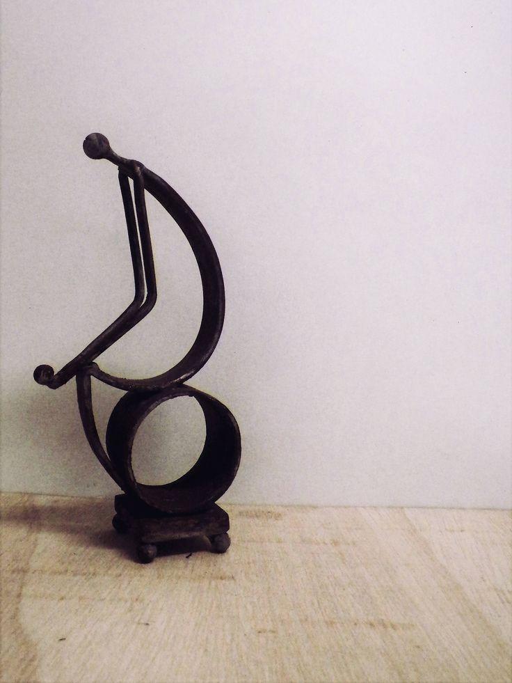 Metal Art Sculpture, Desk Art, Gift for men, Metal Forge Art Man, Home Decor, Art Sculpture  , Handmade Art, Unique Gift, Housewarming Gift by MVhandmadetheory on Etsy