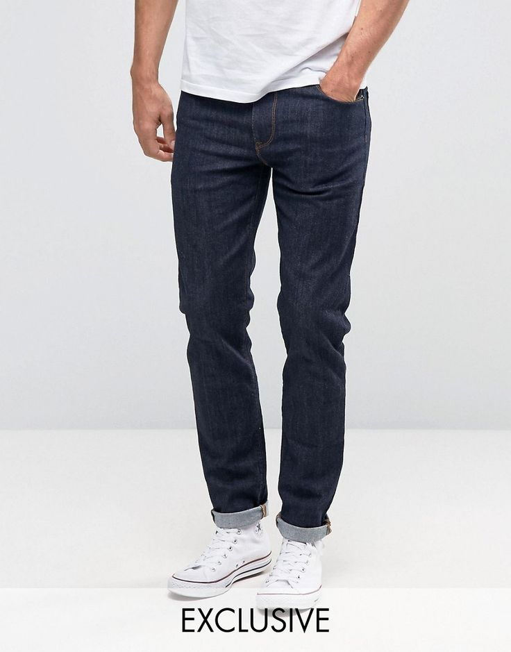 Noak Skinny Jeans In Raw Blue - Blue