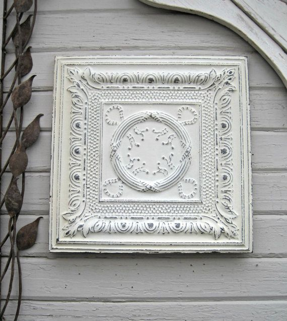 Decorative Tin Ceiling Tiles 79 Best Antique Tin Ceiling Tiles In Whites Images On Pinterest