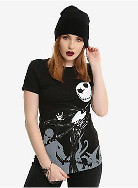 563d8635a0b9fd Jack and Sally; together forever on this tee from Tim Burton's The  Nightmare Before Christmas. The front features an image of Jack and the  back features an ...