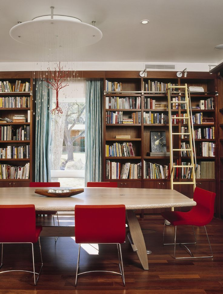 Library tables for home dining room contemporary with for Dining room library