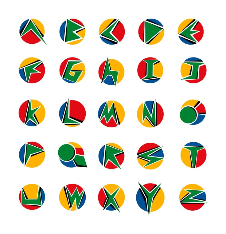 South African flag typography