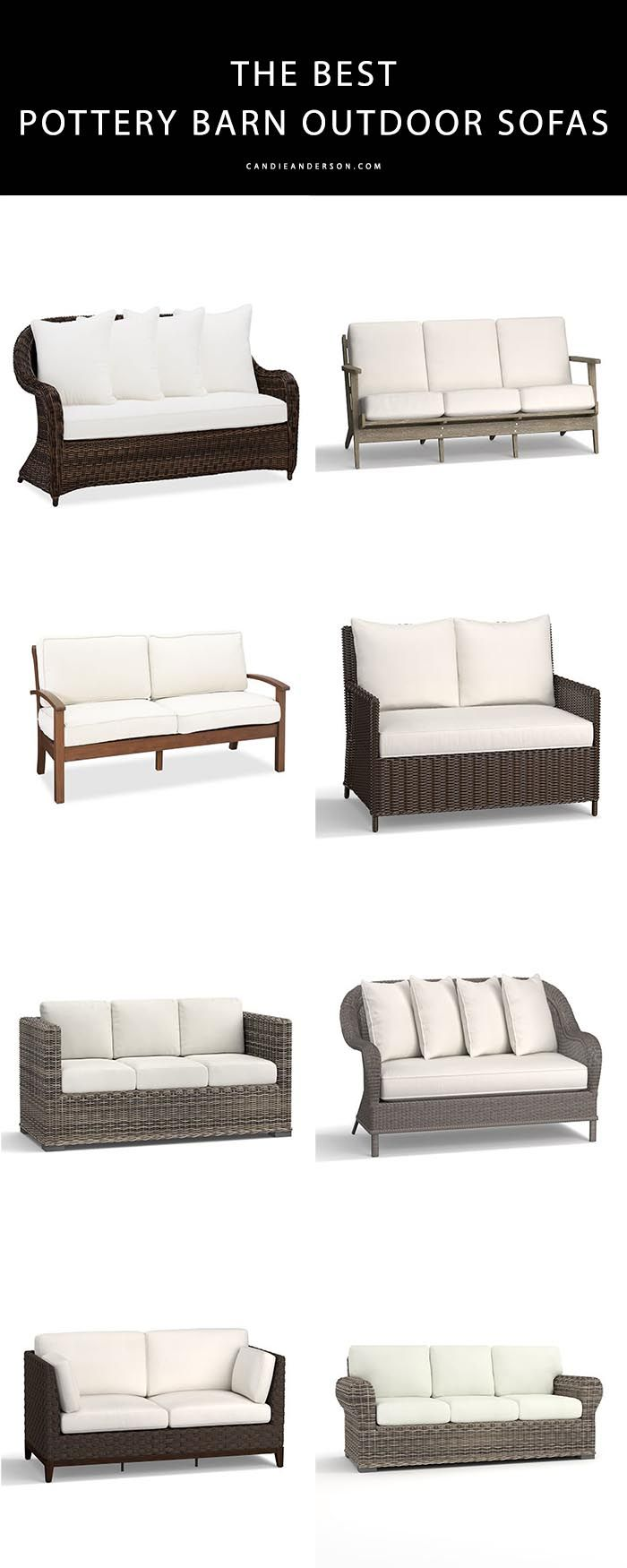 11 Best Pottery Barn Outdoor Sofas On Sale Candie Anderson Pottery Barn Outdoor Outdoor Sofa Outdoor Furniture Decor
