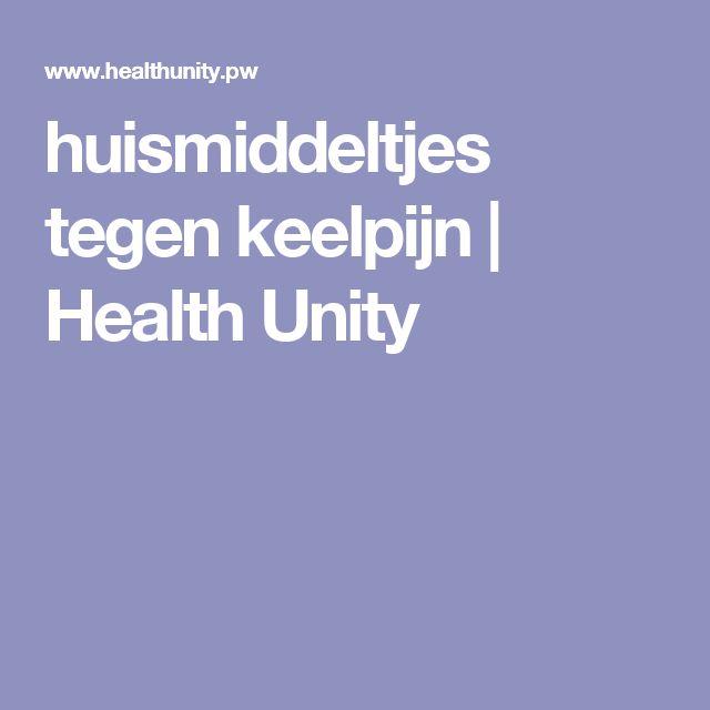 huismiddeltjes tegen keelpijn | Health Unity