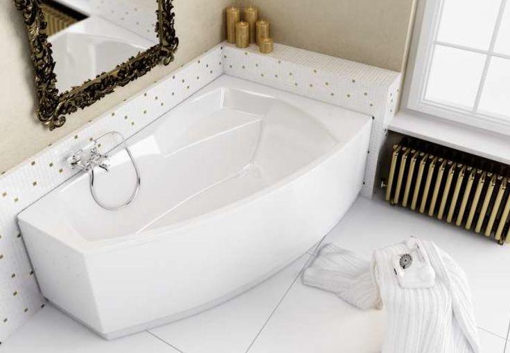 Szeroka, asymetryczna wanna Senso marki Aquaform zapewnia wygodę kąpieli, a jej ciekawy kształt dodaje nowoczesności wnętrzu. Wanna pokryta jest akrylem, co sprawia, że jest wytrzymała na uszkodzenia oraz zmienność barwy.