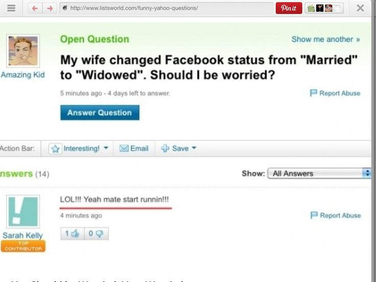 Yahoo Q&A that will make you doubt mankind's existence in the future (25 Photos)