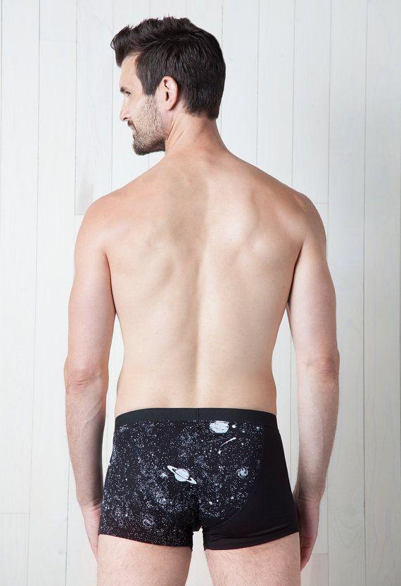Glow in the Dark Solar System Underwear Mens