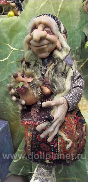 Baba Yaga textile doll                                                                                                                                                                                 More