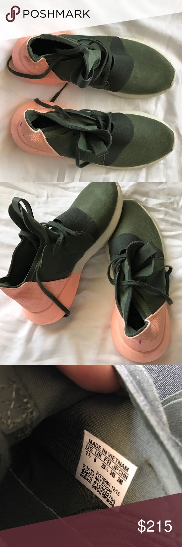 Adidas Tubular shoes Super stylish shoes. Sold out everywhere. Wore them about three times. Good condition. 7.5 in woman. adidas Shoes Sneakers