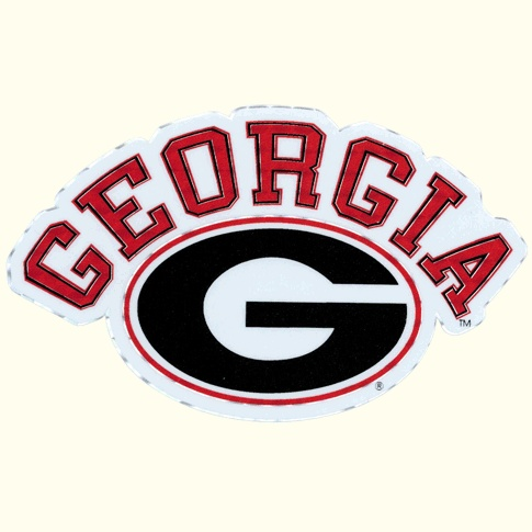 Uga Large G Logo Car Decal Outside Application Georgia Pride
