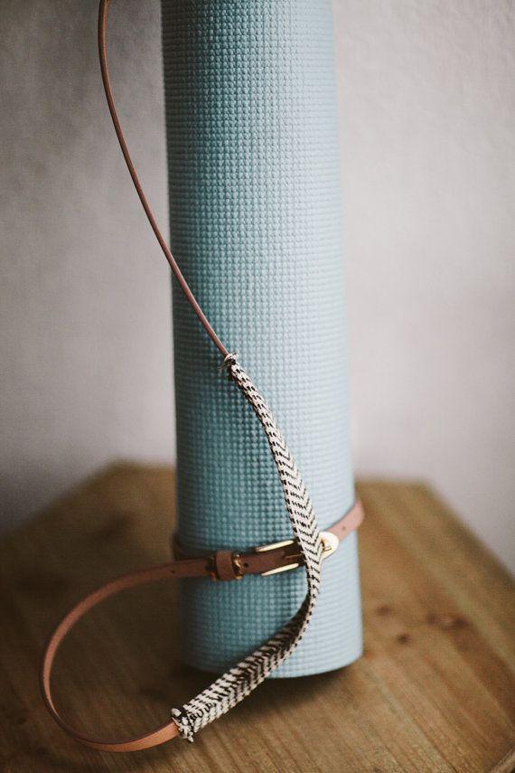 Hazelnut Yoga Mat Strap by LaedaCo on Etsy LAEDA.CO