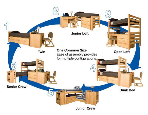 college dorm layouts I like the Junior Loft :)