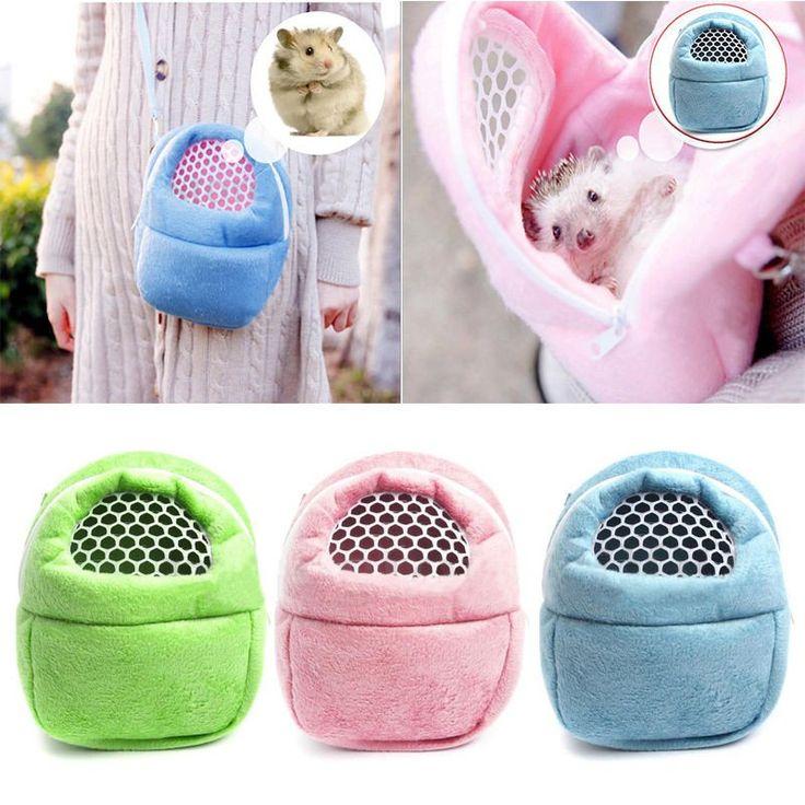 Small Pet Hamster Hedgehog Bunny Carry Bag Sugar Glider Hamsters Portable Bag