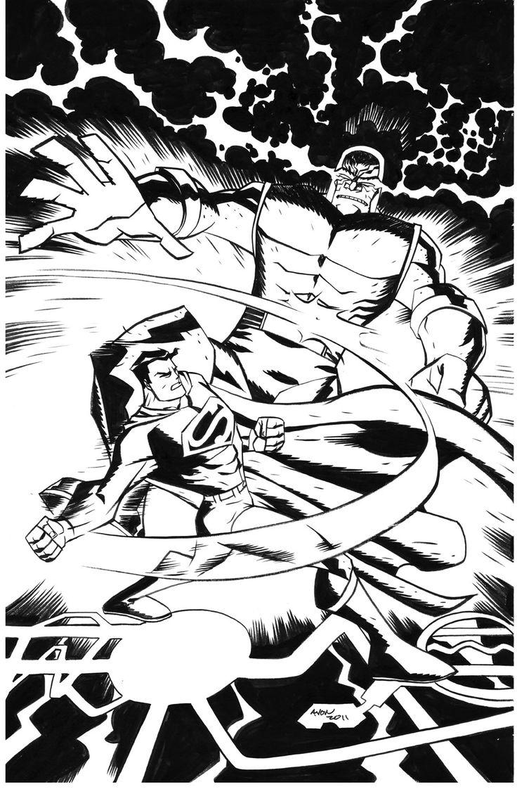 Superman versus darkseid by michael avon oeming