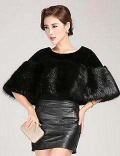Ms fashion for autumn/winter warm imitation fur shawl Ma3 jia3 butterfly unlined upper garment – USD $ 22.99