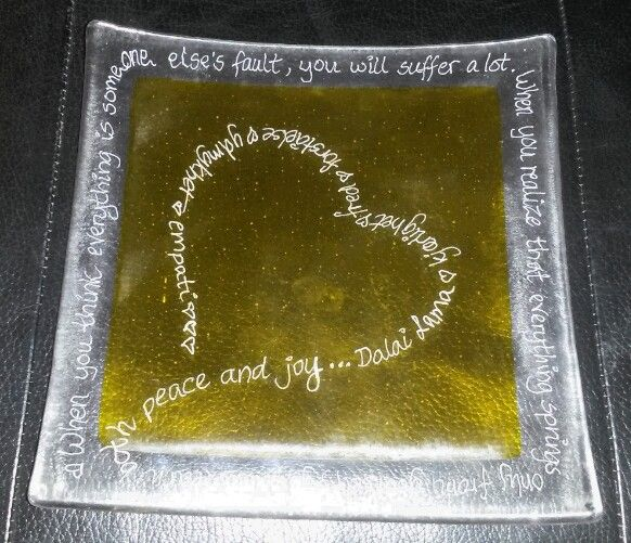 May 27th: Engraved glass plate