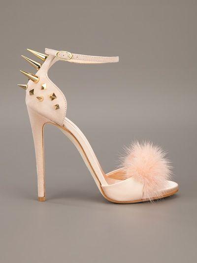 GIUSEPPE ZANOTTI DESIGN spiked back shoe. A boudoir shoe? May hurt.