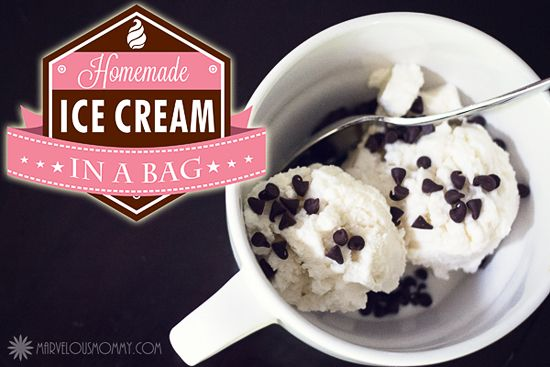 Homemade Ice Cream... In A Bag #Recipe