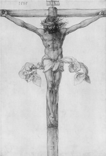 Not religious but always a striking image... Also love Durer.  Christ on the Cross - Albrecht Durer
