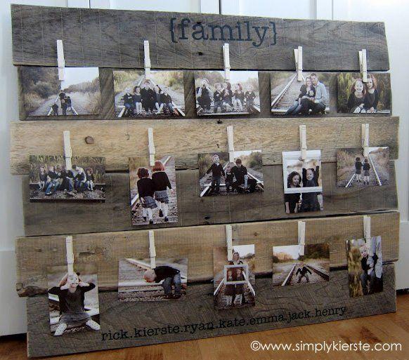 30+ Fotowände Und Fotocollagen Ideen   Famiienfotos Dekorieren
