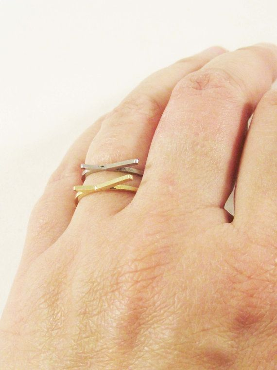 Modular Chic Rings. Multiple Playful Ring Set. Stacking Rings. Ultra Thin Geometric Ring. Delicate Ring. Size 7 ring.