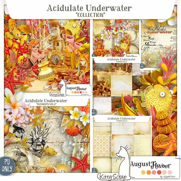 Le Blog de kittyscrap: AUGUST FLAVOR COLLECTION : Acidulate Underwater