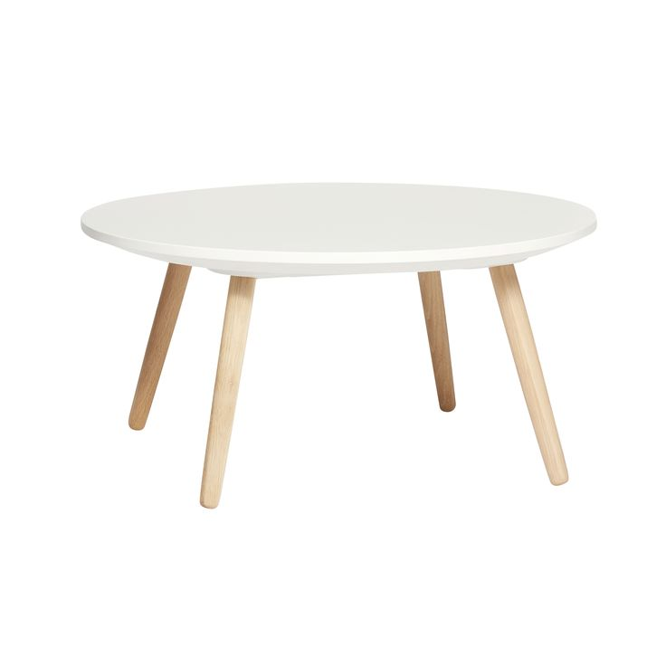 Round oak table. White and wood. Product number: 290204 - Designed by Hübsch
