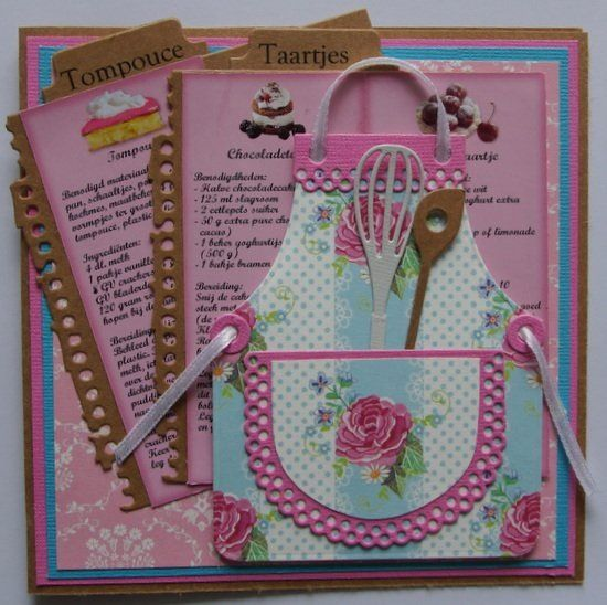 receipe card with Marianne Design goodies