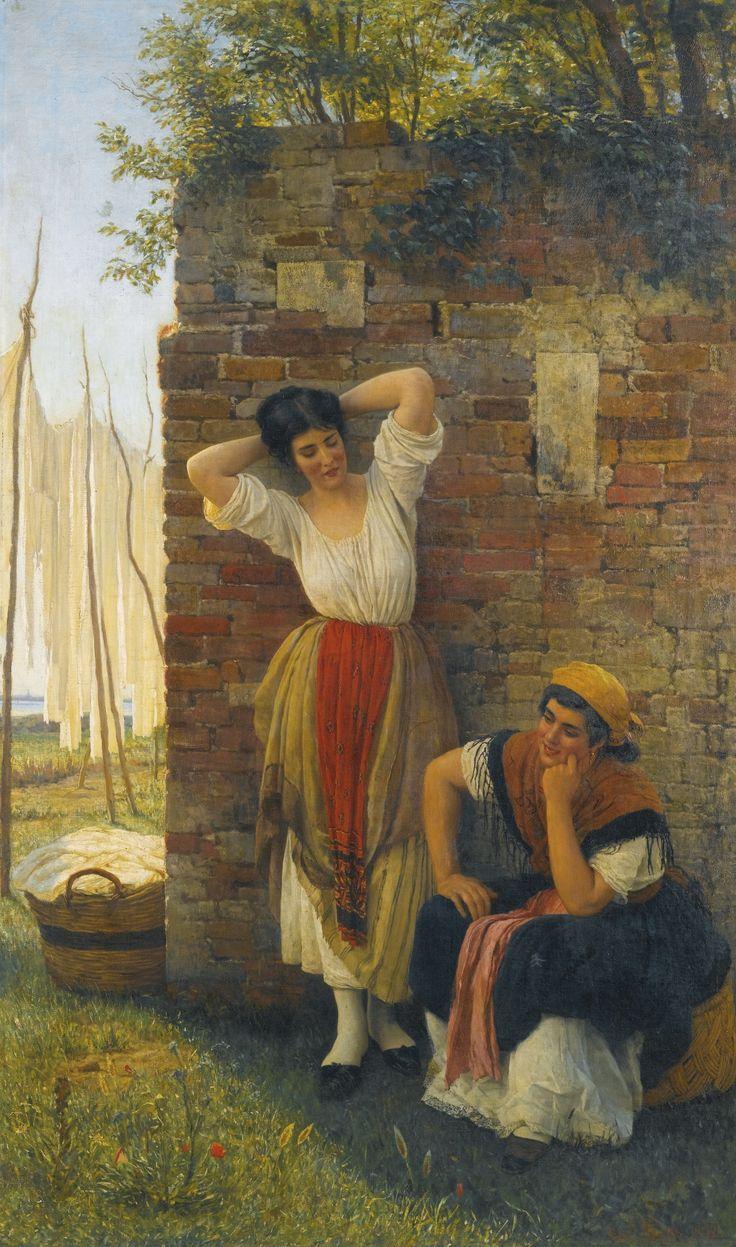 Eugen von Blaas or Eugene de Blaas (Italian-Austrian,1843-1931) - A moment of rest - by Sotheby's