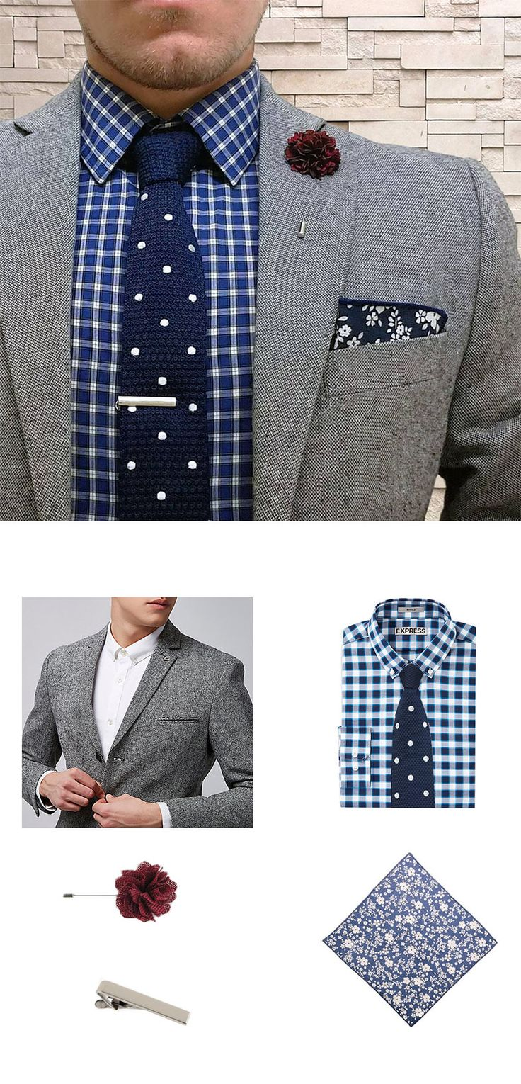 Mix your menswear patterns like a pro with this look of the week that perfectly pairs plaids, florals + polka dots.
